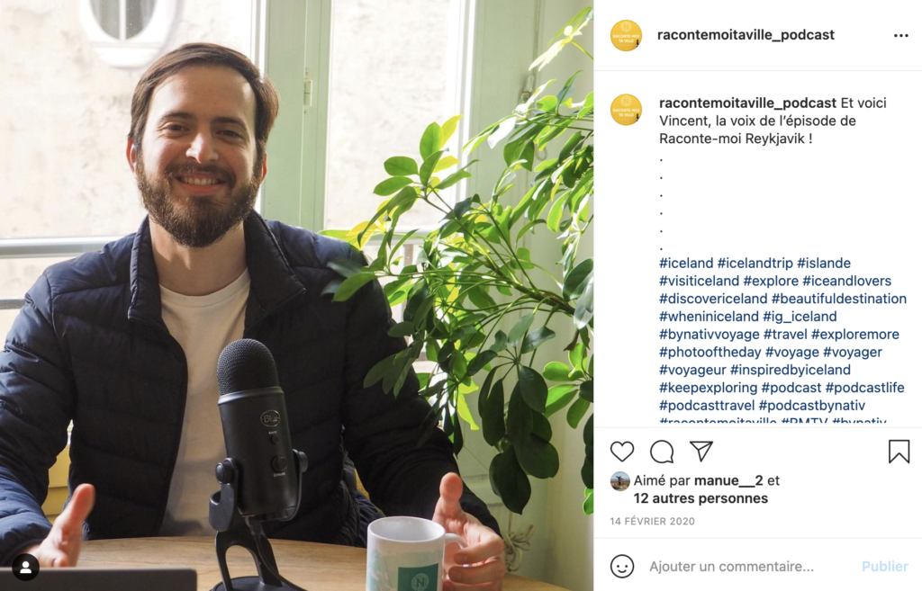 Instagram posts to let people know about a podcast